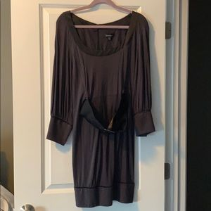 NWT Bebe charcoal gray dress